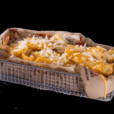 Garlic cheese loaded fries