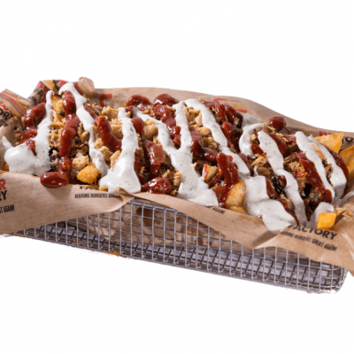 The loaded bbq fries