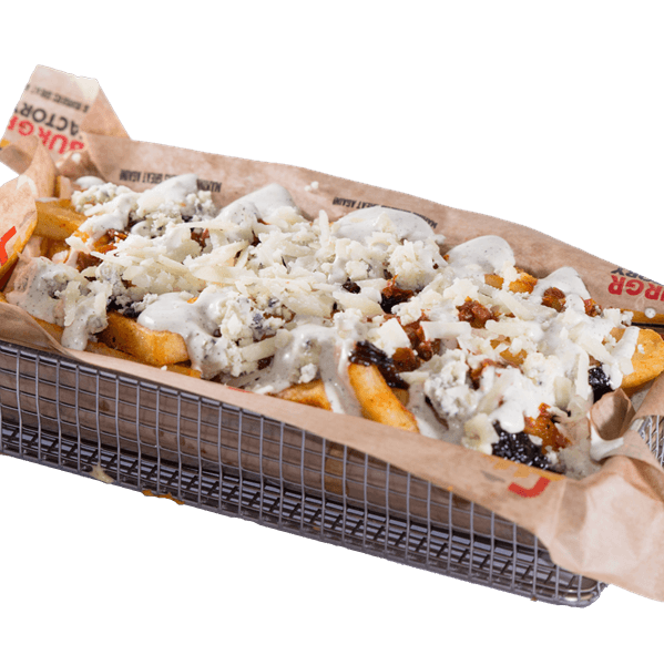 The loaded spicy blue cheese fries