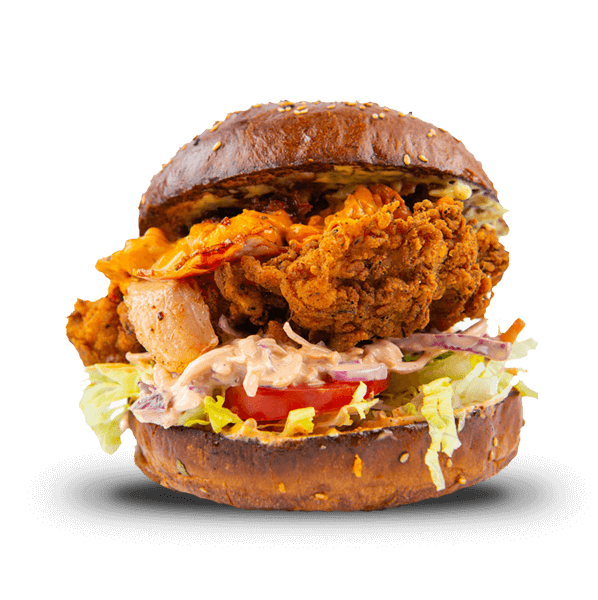 The Mac n Cheese Banger Crispy Chicken Sandwich
